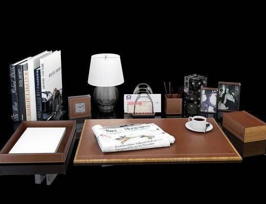 摆件, 陈设品, 书籍, 台灯, 现代简约