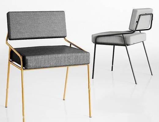 北欧简约, 椅子, 北欧椅子, 单人椅, 靠椅, 休闲椅