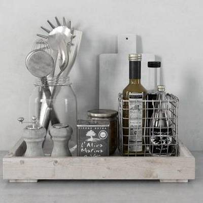 美式, 摆件, 酒瓶, 酒杯, 托盘, 杯具