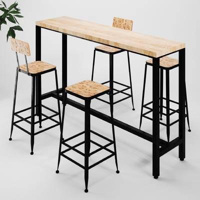 吧台, 吧凳, 吧椅, 工业风