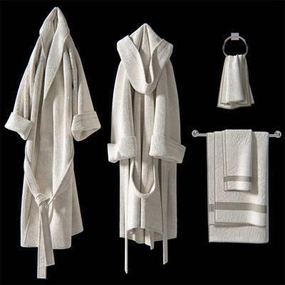 现代, 浴袍, 毛巾