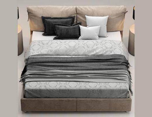 现代简约, 床具, 双人床