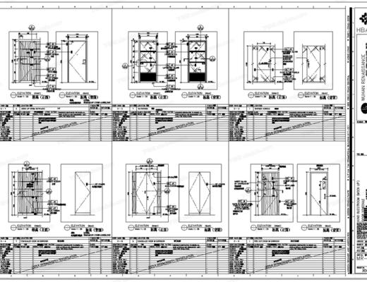 CAD, 施工图, HBA, 工装, 酒店, 平面图, 立面图, 大样, 节点