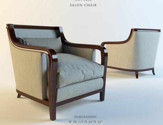 美式, 单人沙发, 意大利baker, 靠椅