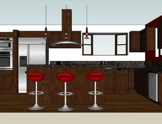 厨房, 厨房橱柜