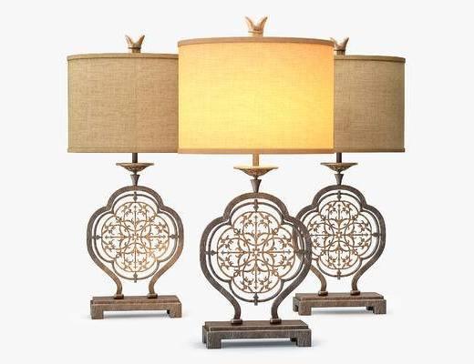 新中式, 台灯, 灯具, 简约