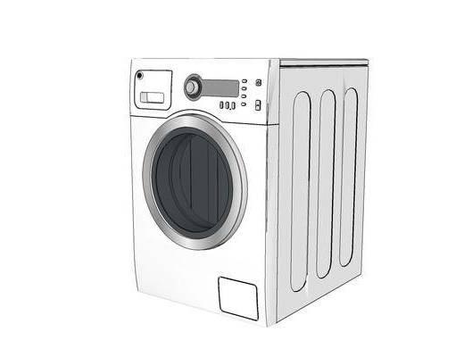 洗衣机, 现代, 白色, 装饰