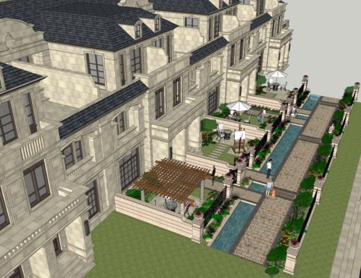 别墅, 外观, 美式, 建筑