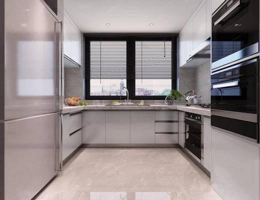 现代简约, 厨房, 厨具