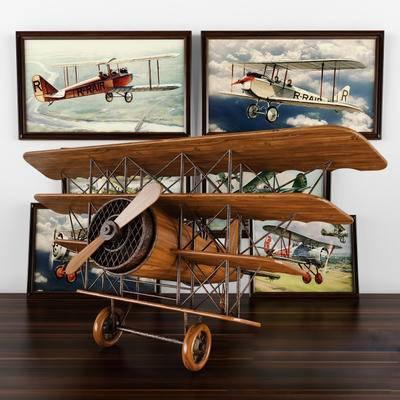 飞机, 现代, 模型, 挂画
