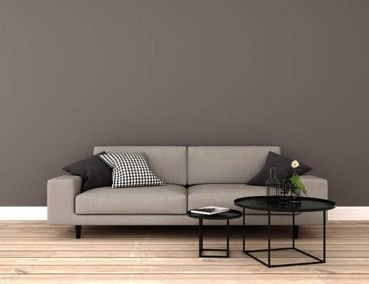 沙发组合, 双人沙发, 茶几, 现代
