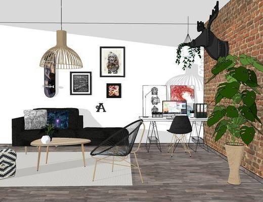 现代北欧客厅, 北欧客厅, 现代客厅, 客厅