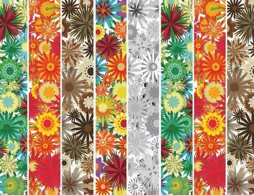 花纹壁纸, 现代