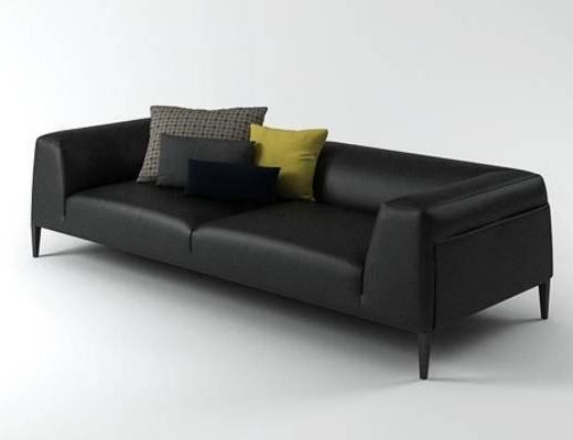美式简约, 工业风格, 沙发, 多人沙发