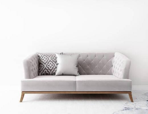 双人沙发, 简欧