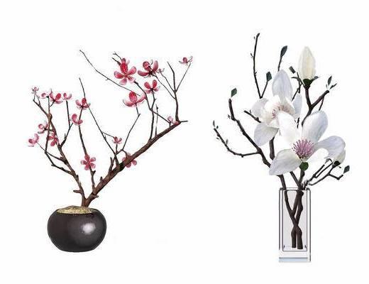 中式, 花瓶, 摆件