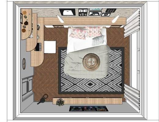 现代北欧卧室, 现代卧室, 北欧卧室, 卧室