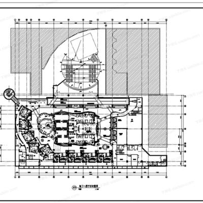 CAD, 施工图, 工装, 酒店, SPA, 负一层, 会所