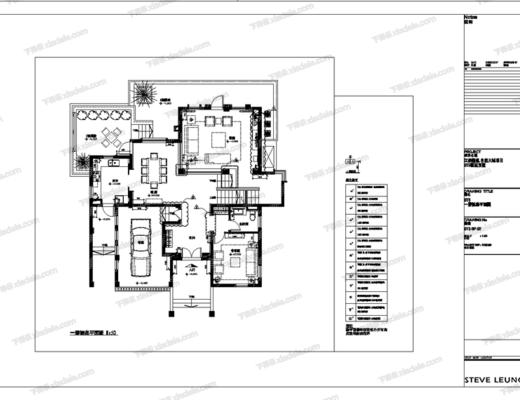 CAD, 施工图, 家装, 别墅, 室内, 样板房, 平面图, 立面图, 大样, 节点