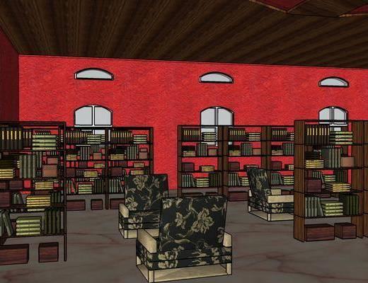 欧式图书馆, 图书馆
