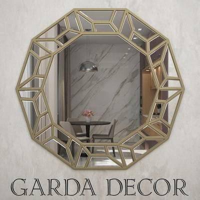 现代简约, 镜子, 装饰镜, 下得乐3888套模型合辑