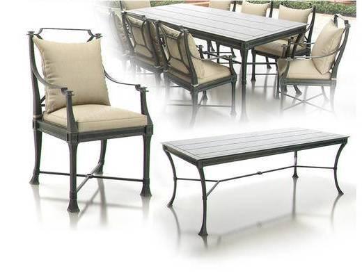 桌椅组合, 工业风, 下得乐3888套模型合辑