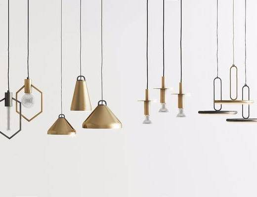 现代简约, 吊灯, 现代吊灯, 灯具