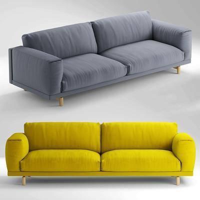 现代休闲双人沙发, 双人沙发, 布艺沙发, 现代沙发, 现代