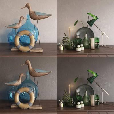 边柜, 花瓶, 现代