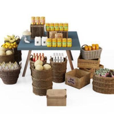 水果, 箩筐, 零食, 陈设品