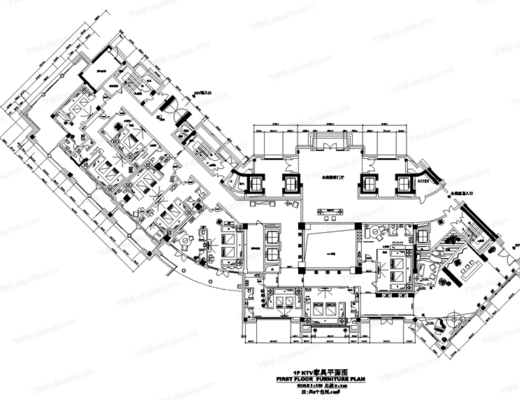 CAD, 工装, 施工图, 平面图, 立面图, 客房, 大样, 节点