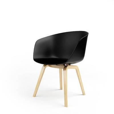 现代, 北欧, 单椅, 休闲椅