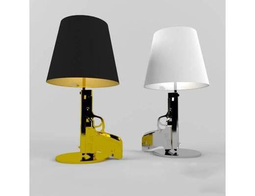 现代, 简约, 台灯, 灯具