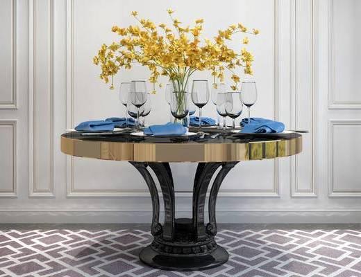 餐桌, 花瓶, 简欧