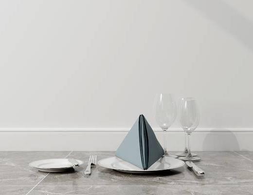 摆件组合, 餐具, 现代