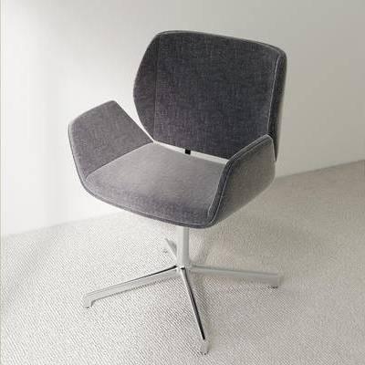 办公室, 椅子, 单人椅, 现代
