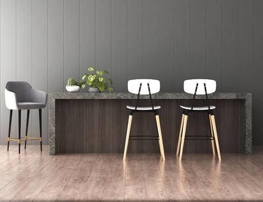 吧椅, 吧台, 现代