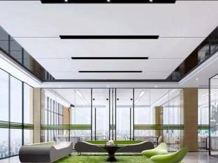 现代综合办公大厅休息区3D模型