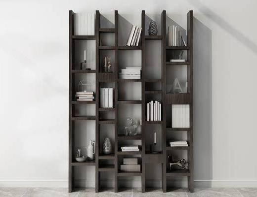 摆件组合, 书架, 现代