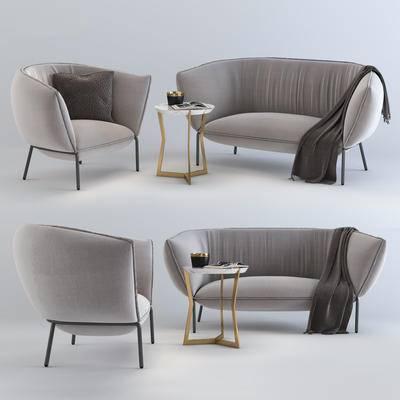 下得乐品牌模型库, 现代, 沙发组合