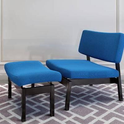 单人沙发, 沙发凳, 简欧