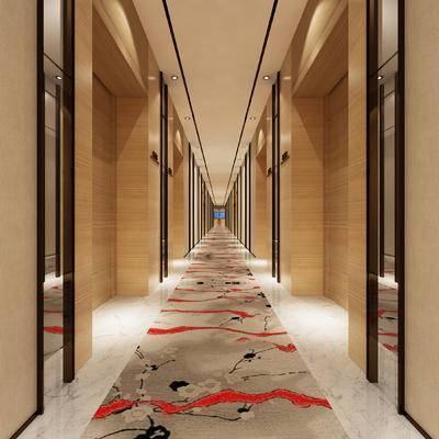 走廊过道, 地毯, 中式