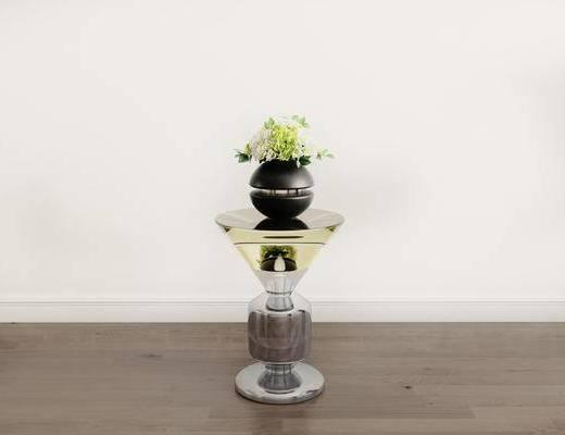 摆件组合, 花瓶, 茶几, 现代