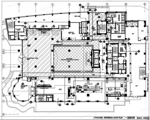 CAD, 施工图, 工装, 酒店, 喜来登, 平面图, 立面图, 节点, 大样, 电路图, 天花图