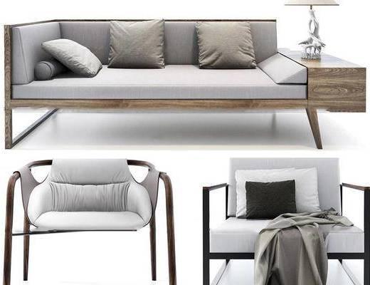 现代简约, 沙发组合, 现代沙发, 沙发椅, 现代