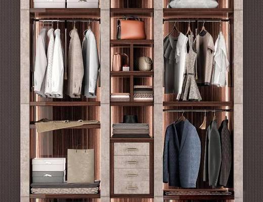 现代衣柜, 衣服, 衣柜, 现代简约