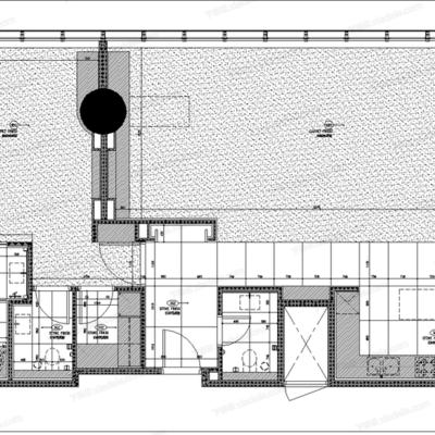 CAD, 施工图, 工装, 酒店, 平面图, 里面图