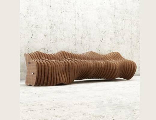 现代, 简约, 凳子, 长凳