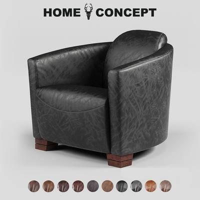 古典单人沙发, 单人沙发