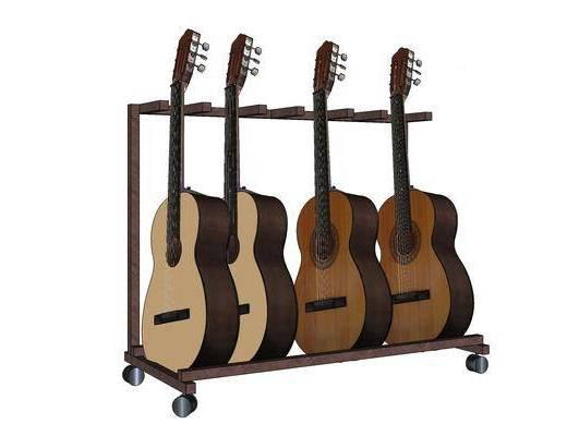 现代, 吉他, 装饰, 乐器